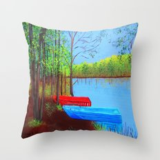 Beautiful place to be  Throw Pillow
