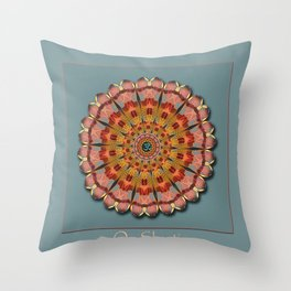 Dragonfly Om Throw Pillow