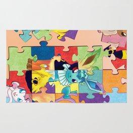 Eeveelution Poke Puzzle Rug