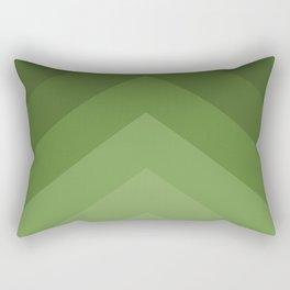 shades of green pattern Rectangular Pillow