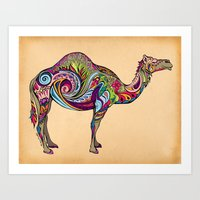 camel Art Prints featuring Camel by Green Girl Canvas