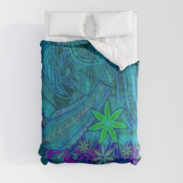 Vintage Polynesian Tribal Princess Print Comforters