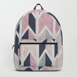Aged Chevron Pattern Backpack