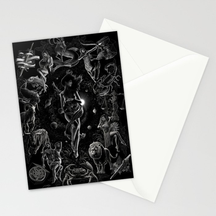 XXI. The World Tarot Card Illustration Stationery Cards