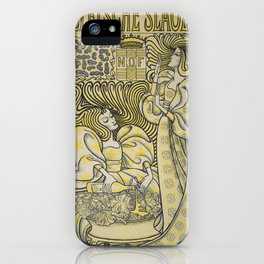 Poster for Delft Salad Oil - Jan Toorop (1894) iPhone Case
