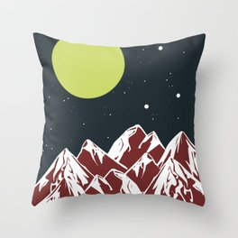 galactic mountains Throw Pillow