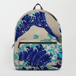 extreme waves-by-Katsushika Hokusai Backpack