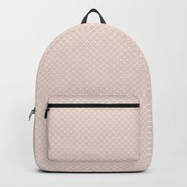 Modern pastel brown white elegant lace pattern Backpack