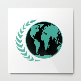 United Earth Government Metal Print