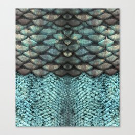 Mermaid Scales Dreamy Sea Blue Canvas Print