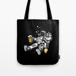 Astronaut Drinking Beer Space Party Tote Bag