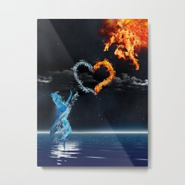 Sun Dude & Water Chick Metal Print