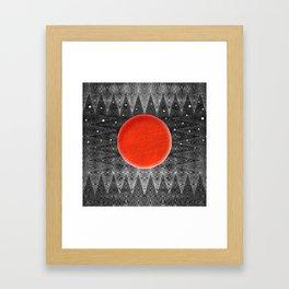 Bodacious Blood Moon Framed Art Print
