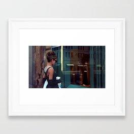 Audrey Hepburn #2 @ Breakfast at Tiffany's Framed Art Print