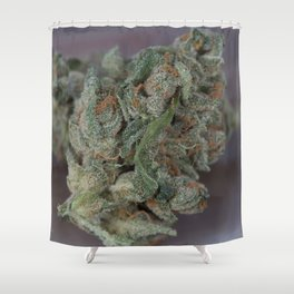 Close up macro of Dr. Who Medicinal Medical Marijuana Shower Curtain