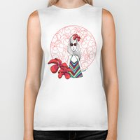 "thailand Biker Tanks featuring ""Fleur"" girl in Thailand by Mathilde.B_Illustration"