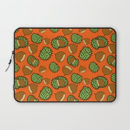 Chestnut and Chestnut Cupule Pattern Laptop Sleeve