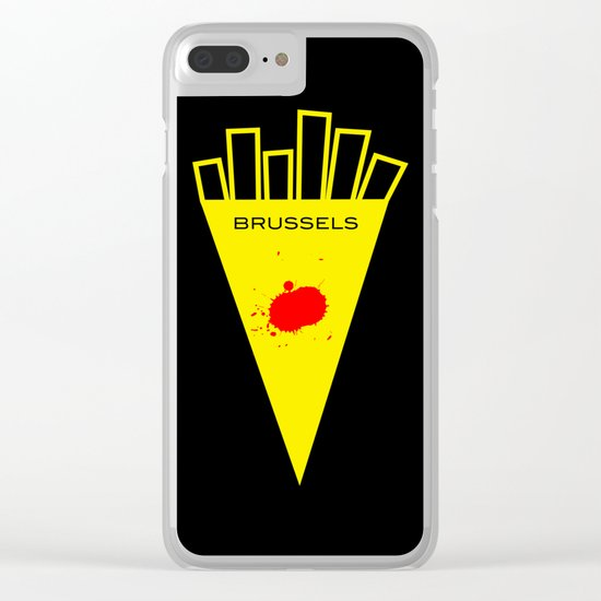 Brussels Belgian Fries, the Best of the World Clear iPhone Case