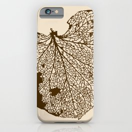 Leaf Skeleton iPhone Case