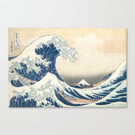 The Great Wave off Kanagawa (Highest Resolution) Canvas Print