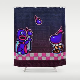 Eggplant Man Shower Curtain