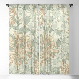 "William Morris ""Honeysuckle"" 3. Sheer Curtain"