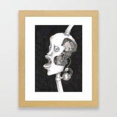 The head. Framed Art Print