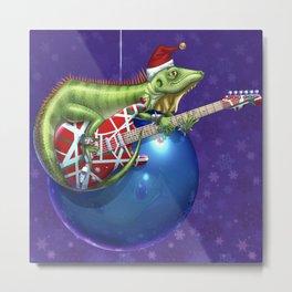 Iguana Rock for the Holidays Metal Print