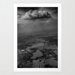 living under the rain cloud Art Print