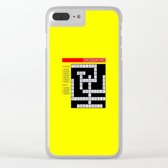 Crossword Clear iPhone Case