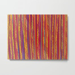 Stripes  - Cheerful yellow orange red and blue Metal Print