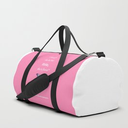Small And Mighty Pink Duffle Bag