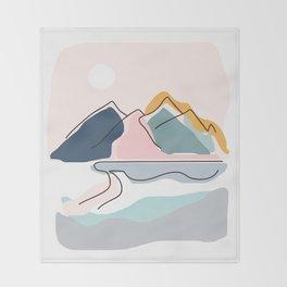 Minimalistic Landscape Throw Blanket