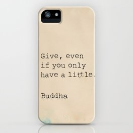 Buddha quote poster iPhone Case