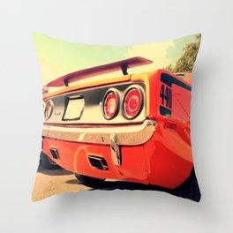 Vintage 'Cuda Throw Pillow