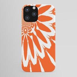 The Modern Flower Orange iPhone Case