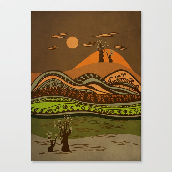 psychedelic mountains Canvas Print