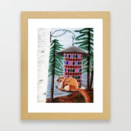 Squirely Buisness Framed Art Print