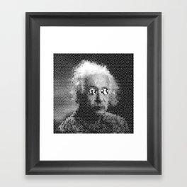 Mosaic Einstein Framed Art Print