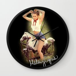 Miley #9 Wall Clock