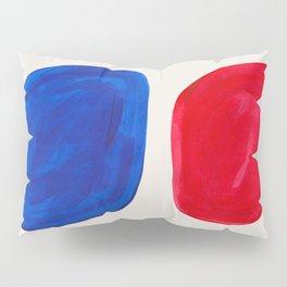 Mid Century Modern Retro Minimalist Colorful Shapes Phthalo Blue Red Rothko Pebbles Pillow Sham