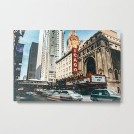 chicago strret Metal Print