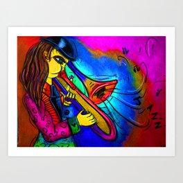 Pink Jazz Art Print