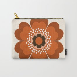 Coolie - retro flower 70s vibes minimalist floral 1970's colorful decor Carry-All Pouch