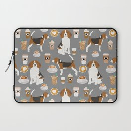Beagle coffee dog breed gifts pupuccino dog lover beagles pure breed Laptop Sleeve