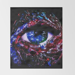 We The Peephole Throw Blanket