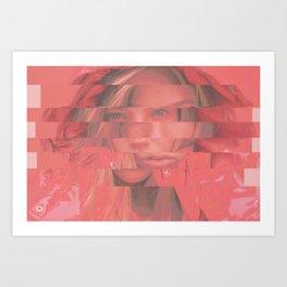 LineGirl Art Print