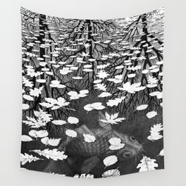 Escher- Three Worlds Wall Tapestry