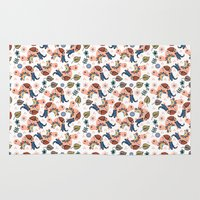 turtles Area & Throw Rugs featuring Turtles by luizavictoryaPatterns