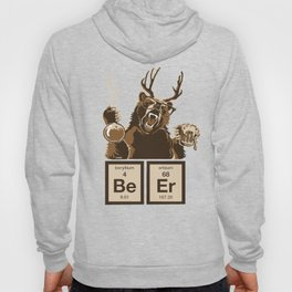 Funny chemistry bear discovered beer Hoody